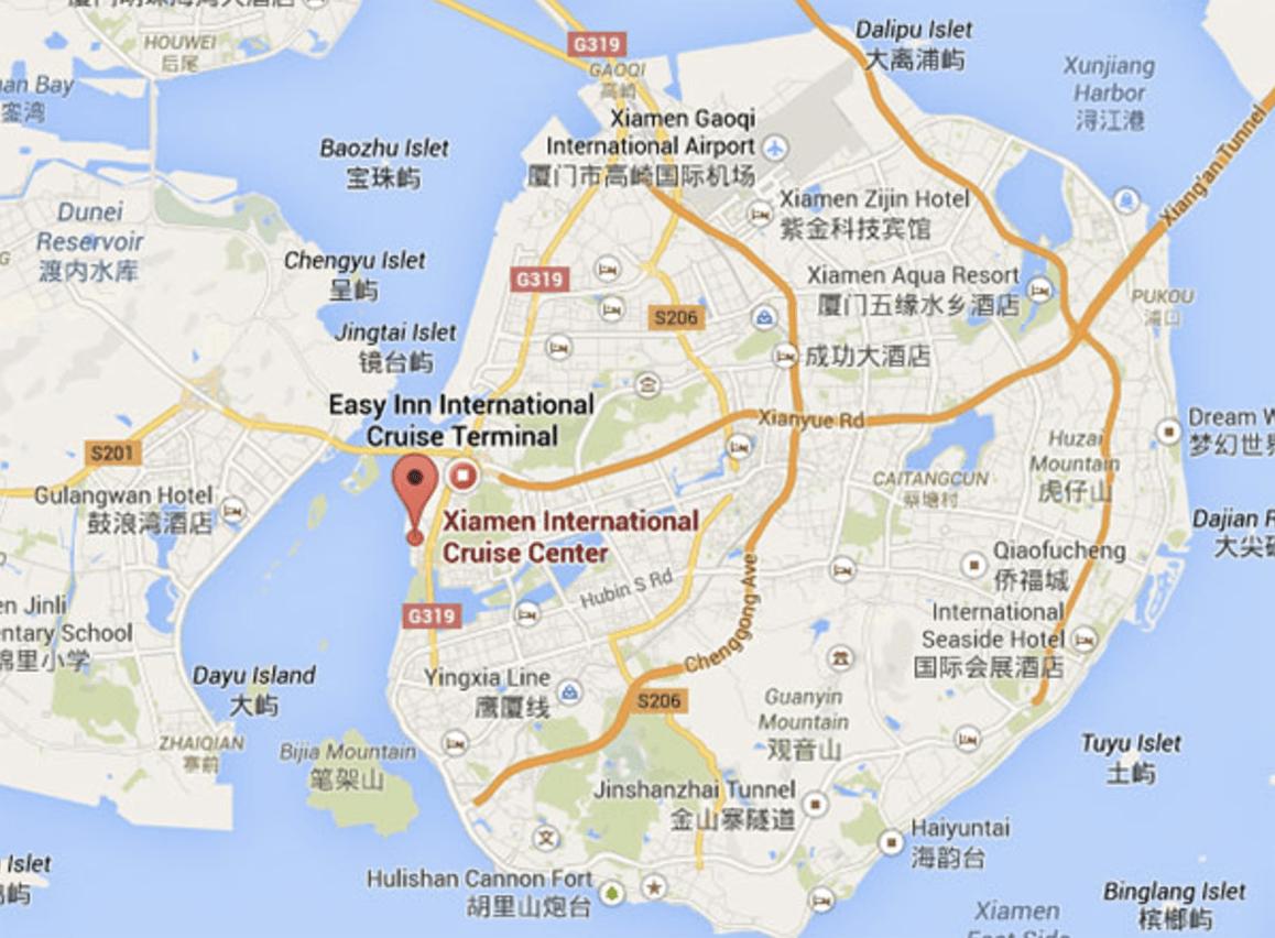 Daytime tourist ferry service from Xiamen to Kulangsu Island (Gulangyu)
